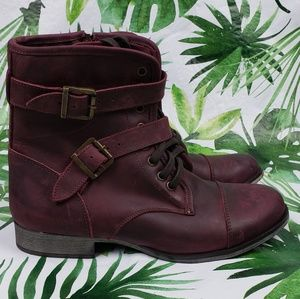 Dolce Vita 1357 Sandie combat boots maroon 10